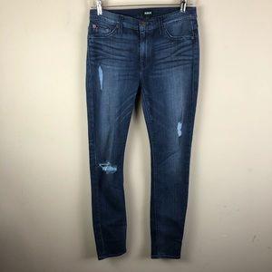 Hudson women's jeans sz 27 skinny denim distressed